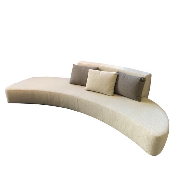 Mid Century Italian Curved Sofa