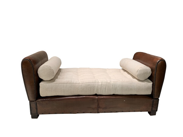 1940'S French Leather Day Bed