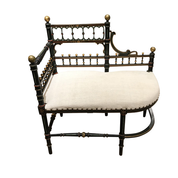 19thc French Napoleon III Setee / Bench