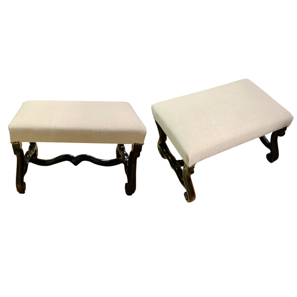 19thc French Pair Foot Stools