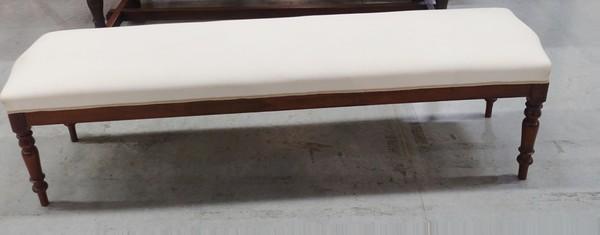 19thc Italian Long Upholstereed Bench