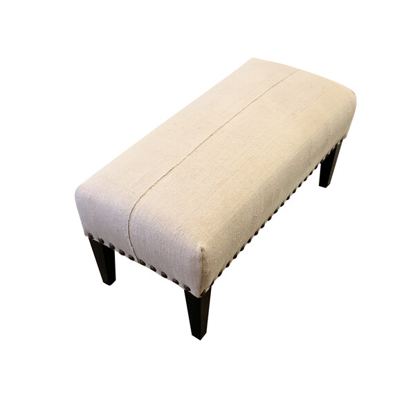Contemporary American  XL Brass Studded Bench
