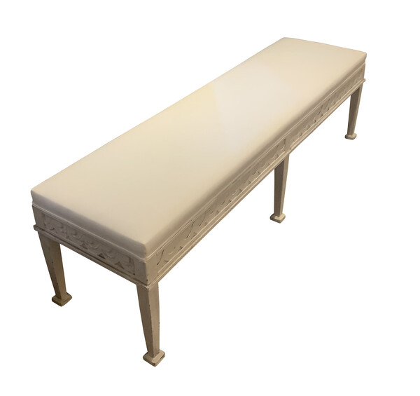 Contemporary Gustavian Style Bench