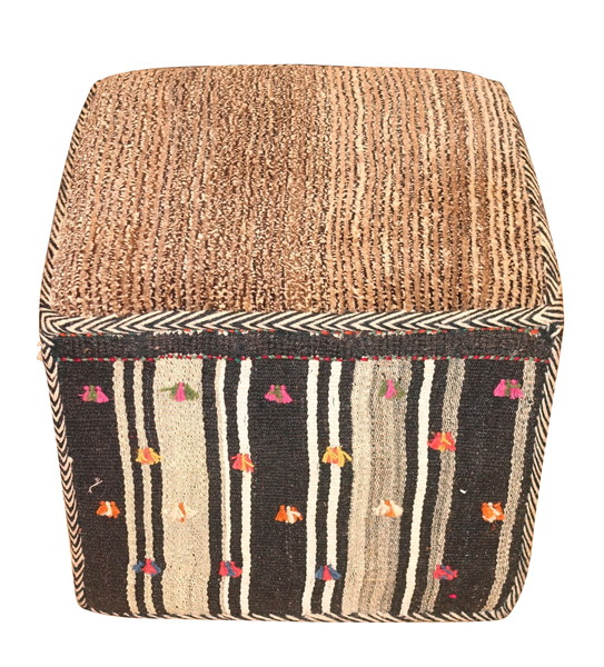 Contemporary Middle Eastern Kilm Footstool