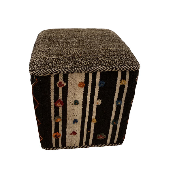 Contemporary Turkish Kilim Footstool