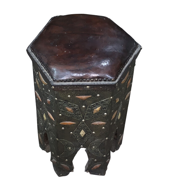 Mid Century Moroccan Octagonal Shaped Stool