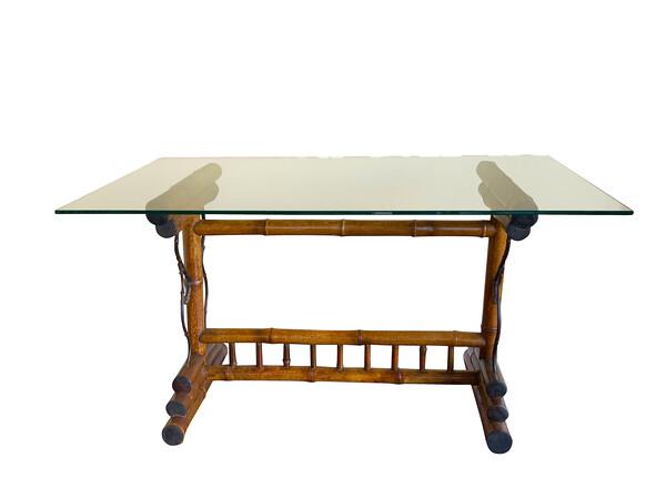 1940's French Bamboo Base Writing Desk