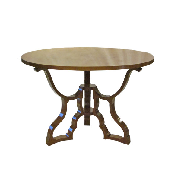 1940's Italian Round Maple Center Hall Table