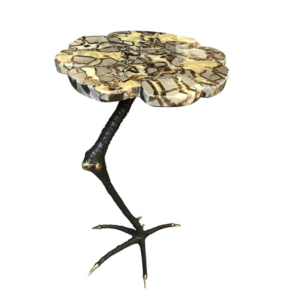 Contemporary Bronze Rooster Leg Cocktail Table