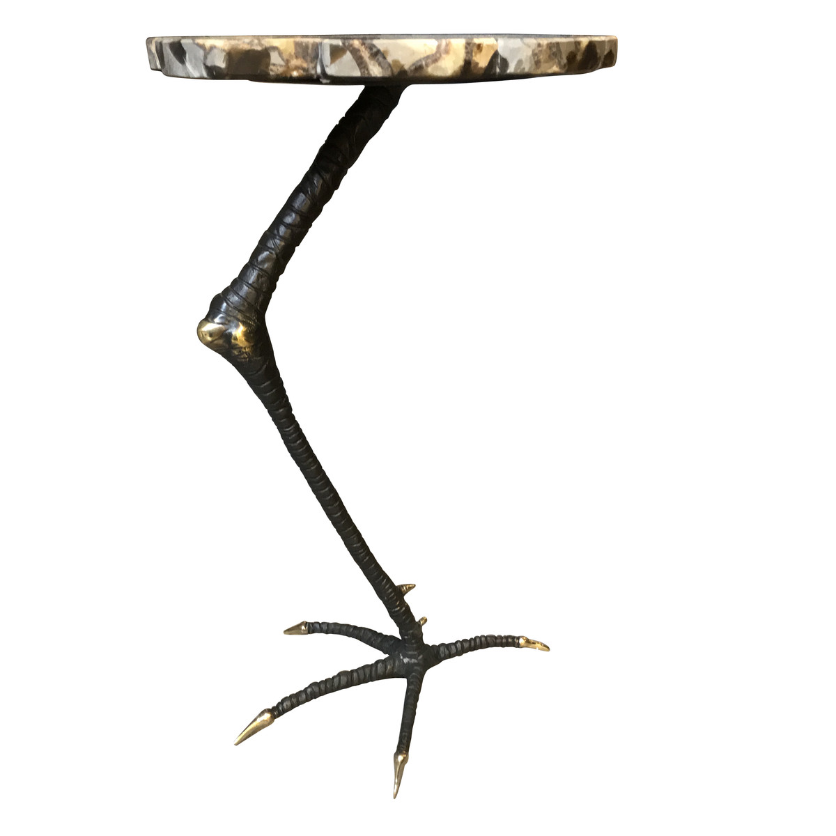 Coffee Table With Bronze Legs: Contemporary Bronze Rooster Leg