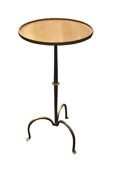 Contemporary Bronze Tripod Leg Cocktail Table