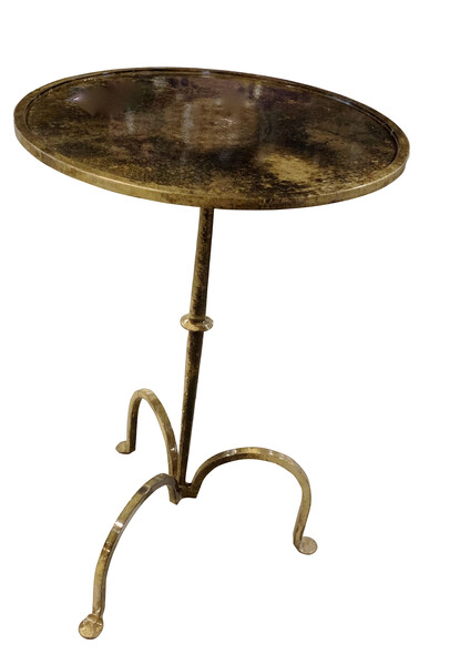 Contemporary Indian Brass Tripod Leg Side Table