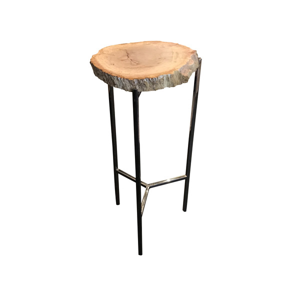 Contemporary Indonesian  Petrified Wood Cocktail Table