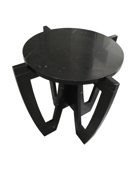 Contemporary Italian Black Marble Cocktail Table