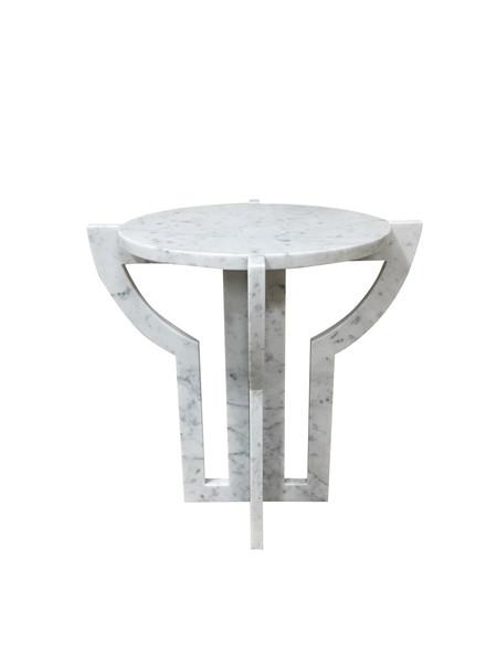 Contemporary Italian White Carrara Marble Cocktail Table