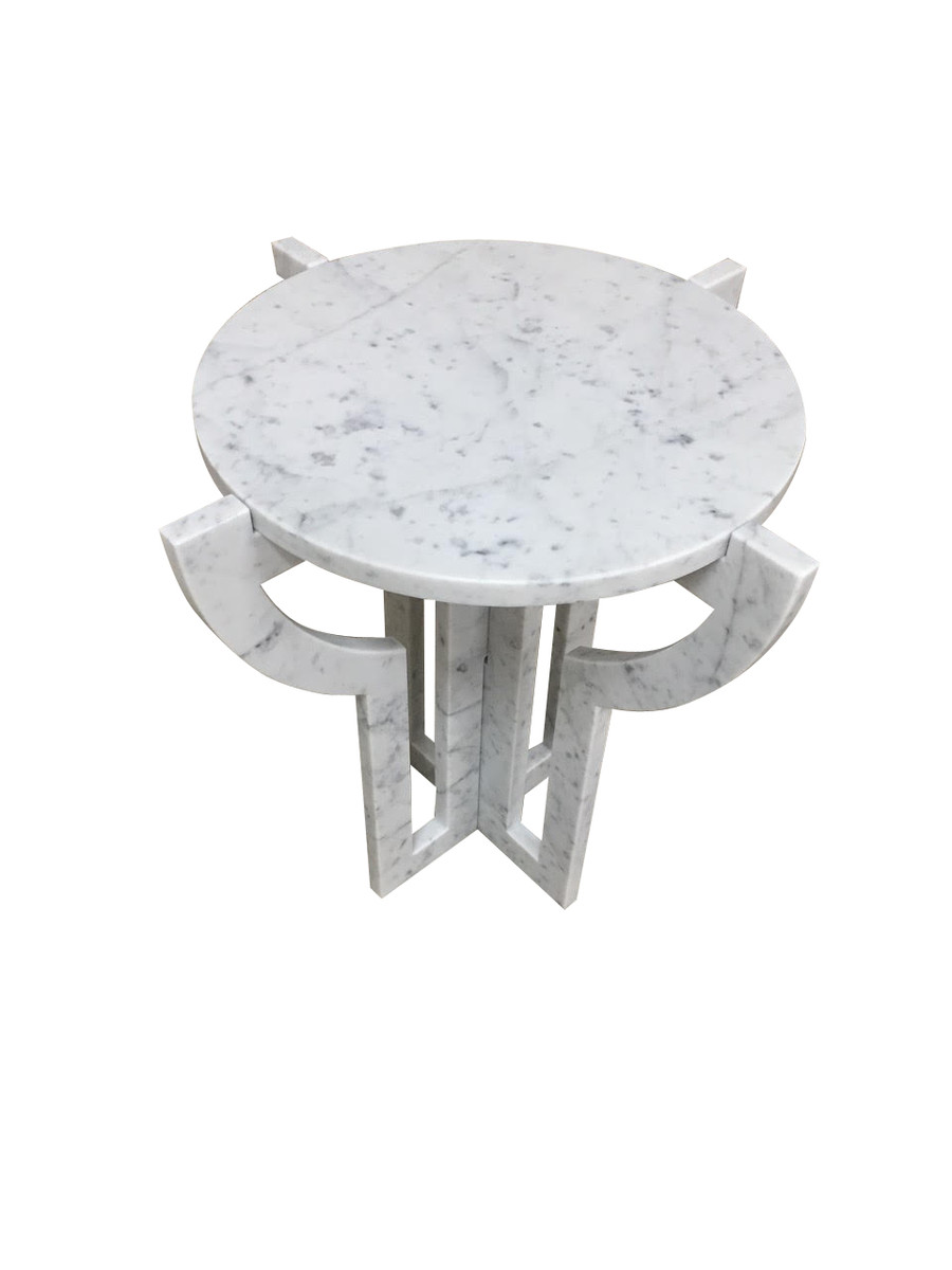Balsamo Antiques Contemporary Italian White Carrara