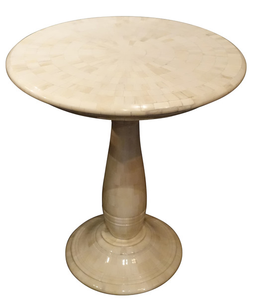 Contemporary Mosaic Pieced Bone Cocktail Table