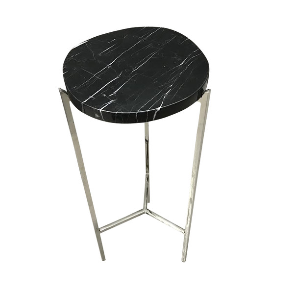 Contemporary Polished Nickel Cocktail Table