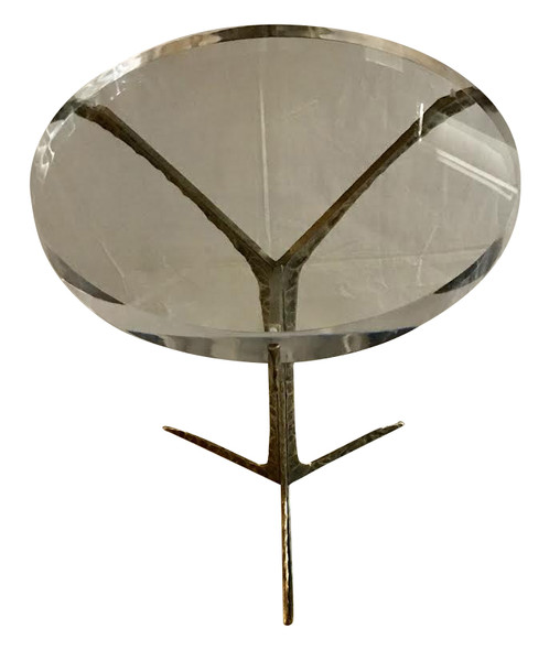 Contemporary Portuguese Lucite Top Cocktail Table