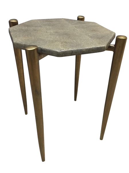 Contemporary Faux Shagreen  Cocktail Table