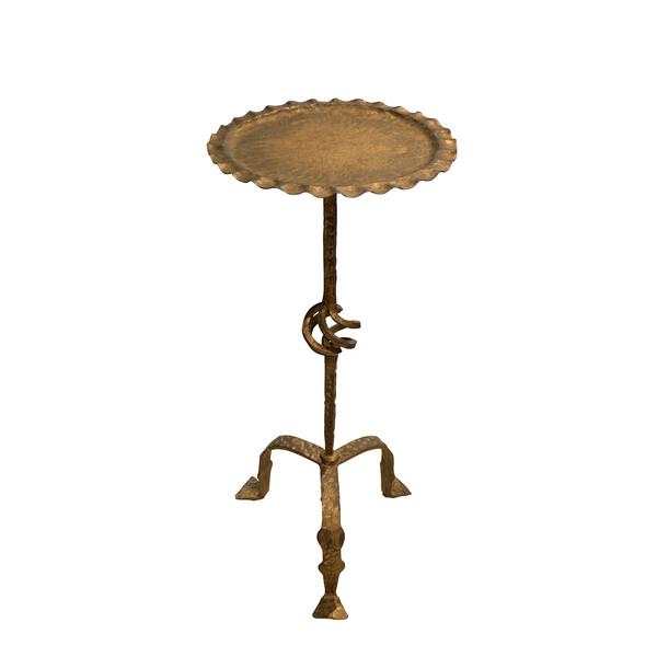 Mid Century Spanish Gold Gilt Metal Cocktail Table