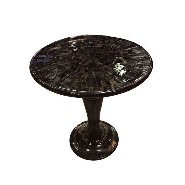 Contemporary Mosaic Pieced Horn Cocktail Table