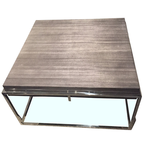 Contemporary Belgian Awari Wood Coffee Table