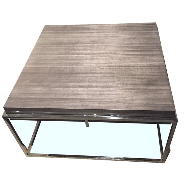 Contemporary Belgian Awari Wood Coffee Table