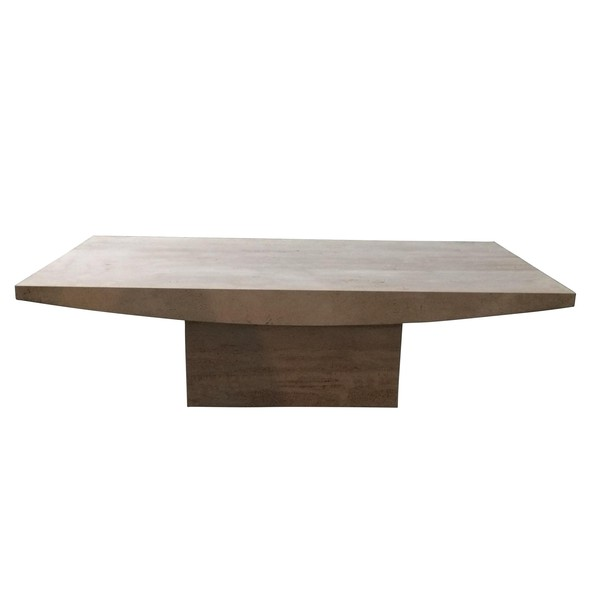 Contemporary Italian Travertine Coffee Table