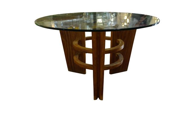 Mid Century Italian Borsani Glass Top Coffee Table