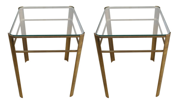 Mid Century French pair Jacques Quinet Coffee Tables
