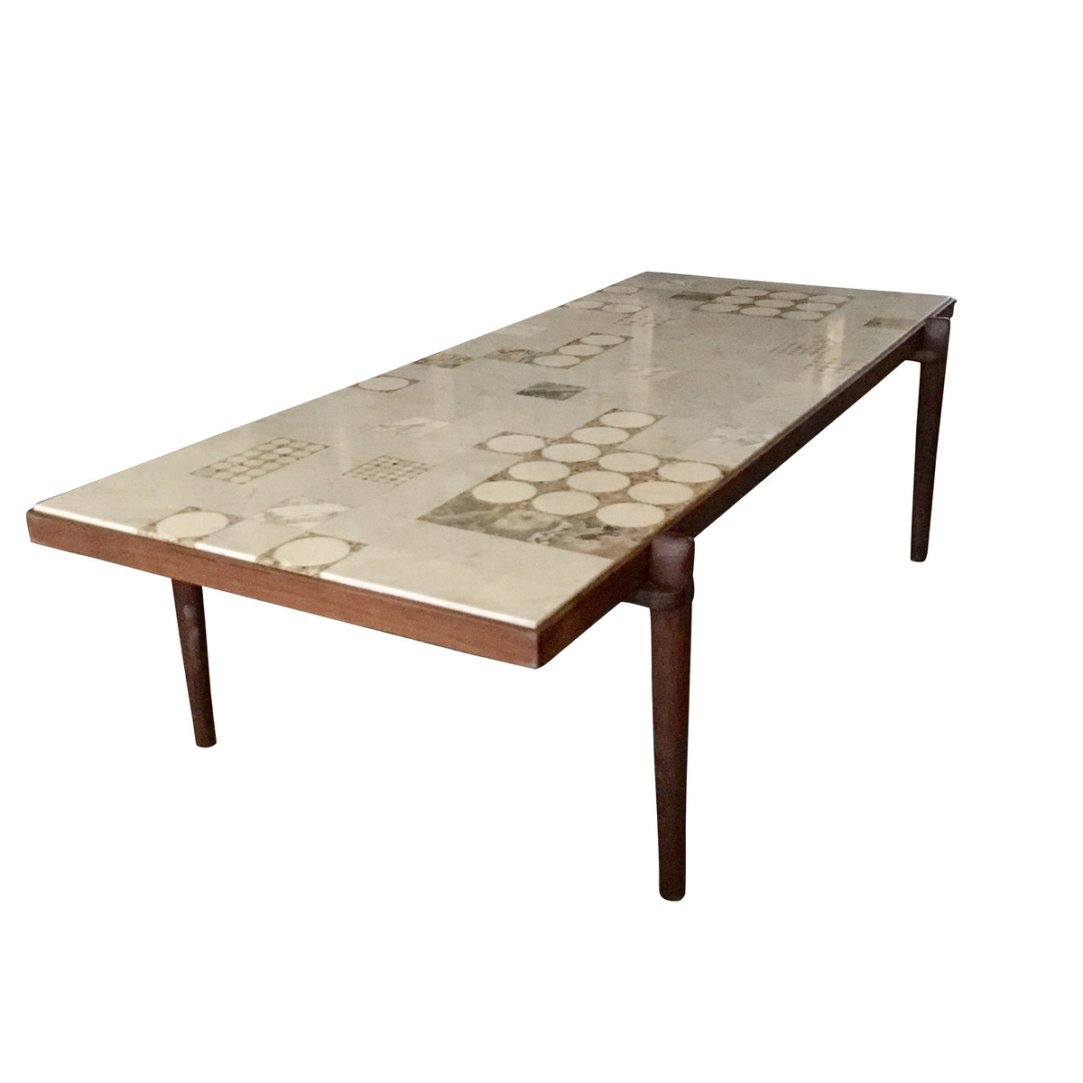 Marble Top Coffee Table: Mid Century Scandinavian Marble Top