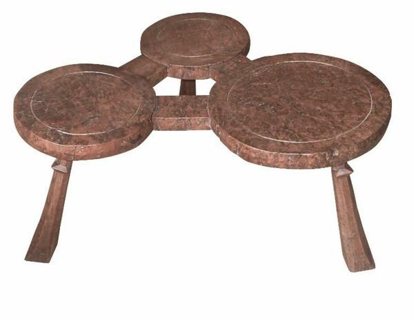 1930's French Jack Grimble Design Three Pod Coffee Table
