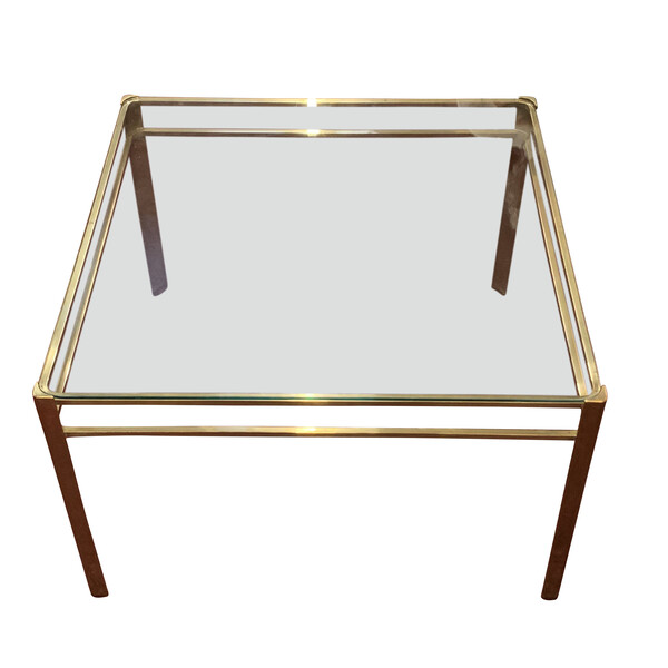 1940's French Jacques Quinet Square Coffee Table
