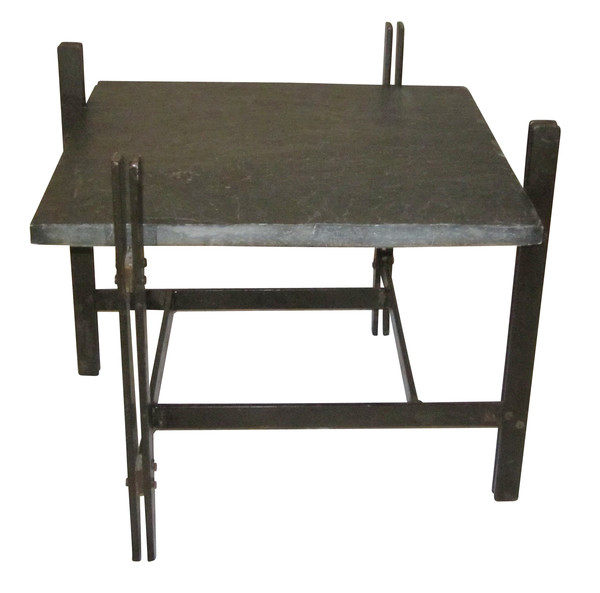 1940's French Slate Top Coffee Table