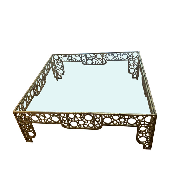 1930's French XL Gold Gilt Coffee Table