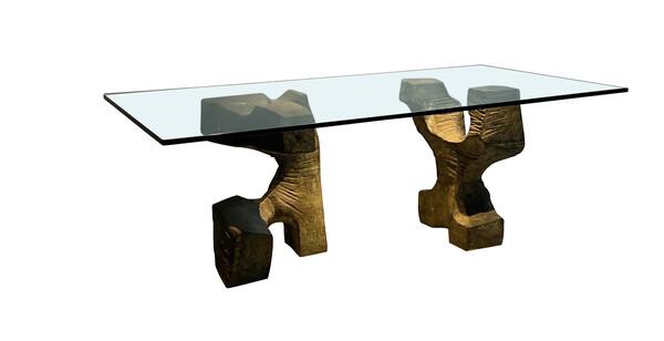 Mid Century Spanish Sculptural Bronze Table