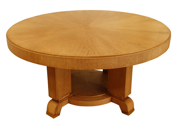 1940's French Jules Leleu Round Dining Table