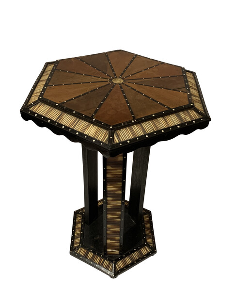 19thc Anglo Indian Porcupine Quill Side Table