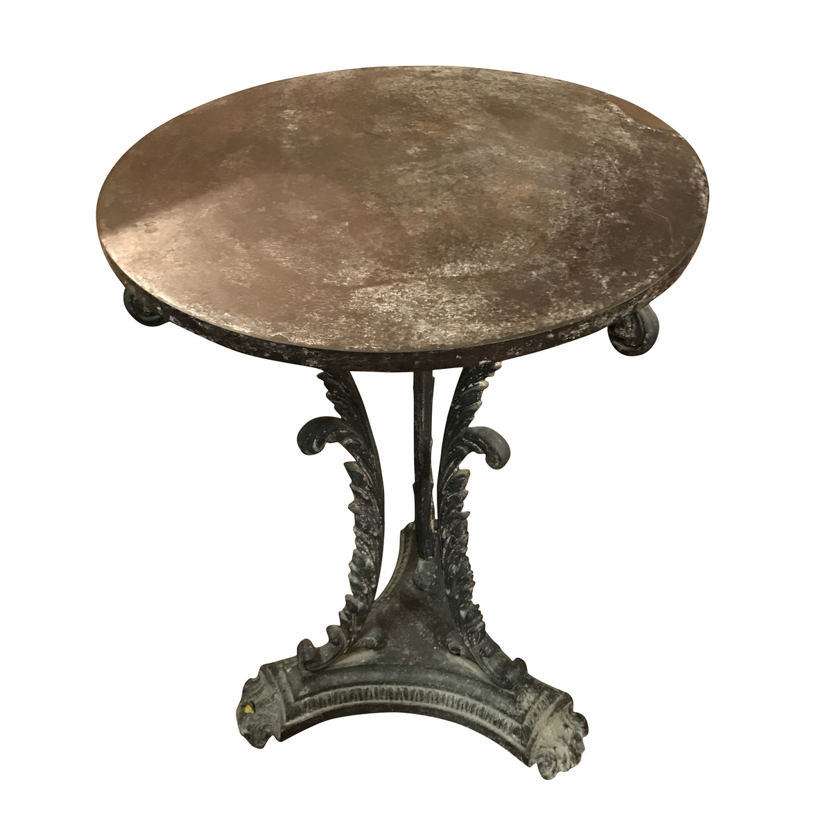 Coffee Table With Bronze Legs: 19thc English Bronze Fluted Leg Side Table