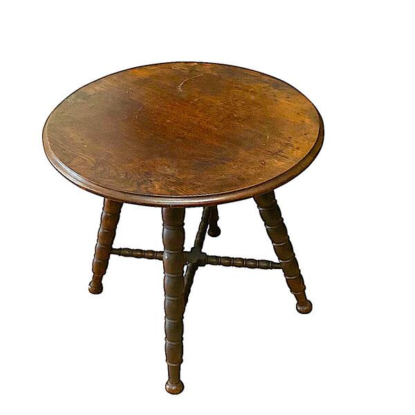 19thc English Spool Leg Side Table