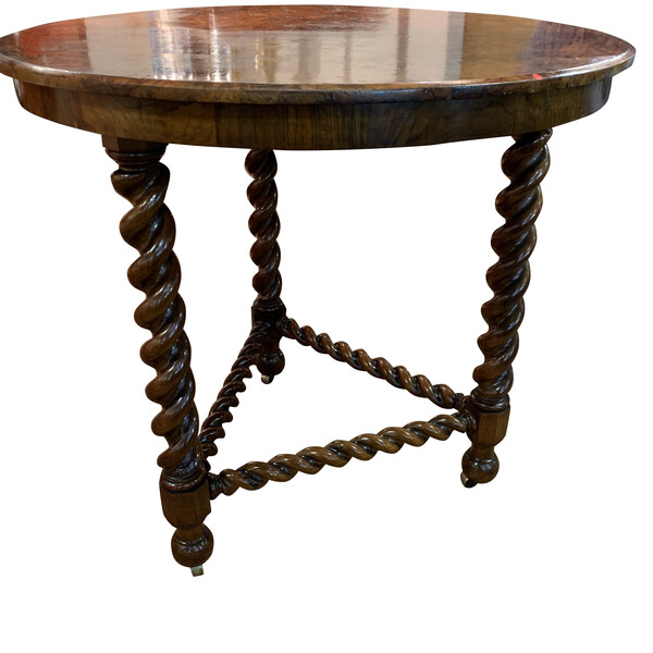 19thc English Spindle Leg Side Table