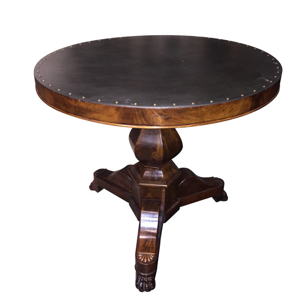 19thc French Steel Top Gueridon