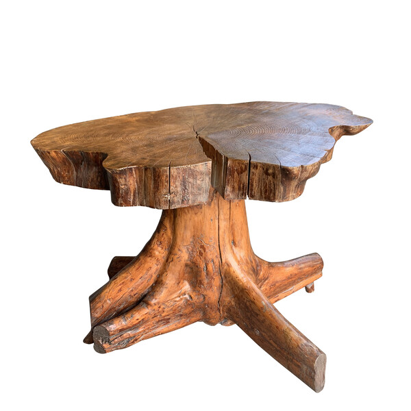 20thc French Tree Root Side Table