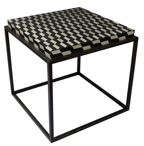 Contemporary Bone and Horn Side Table
