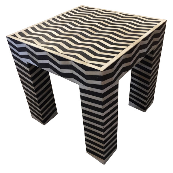 Contemporary Indonesian Bone and Horn Side Table