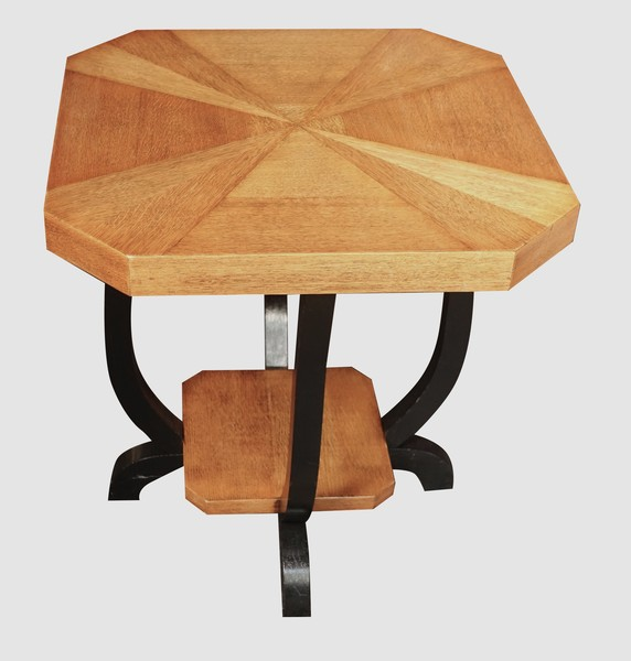 Mid Century Belgian Pair Octagonal Side Tables