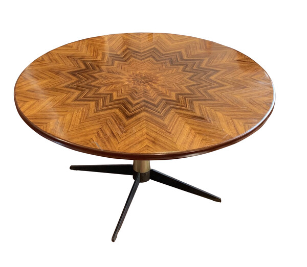 Mid Century Italian High Low Side Table