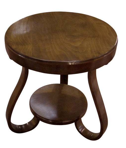 1930's  Austrian Walnut Round Side Table
