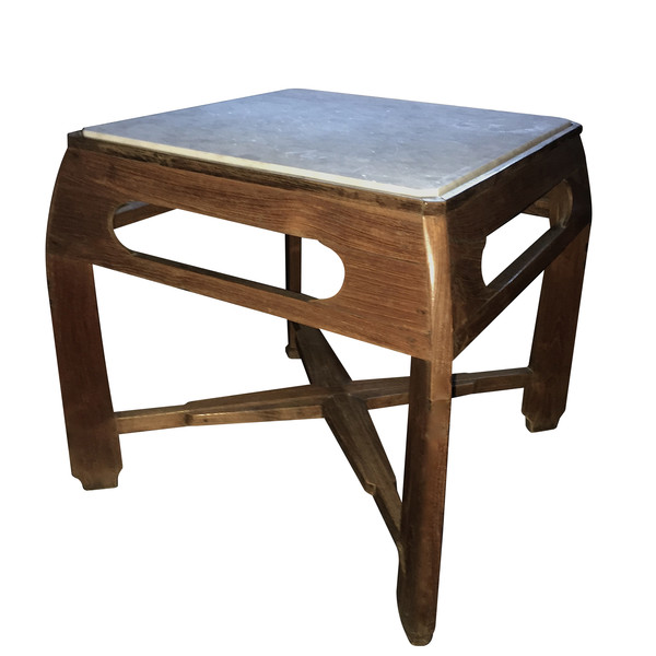 1930's German Arts & Crafts Marble Top Side Table